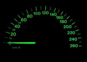 snelheidsmeter dashboard auto